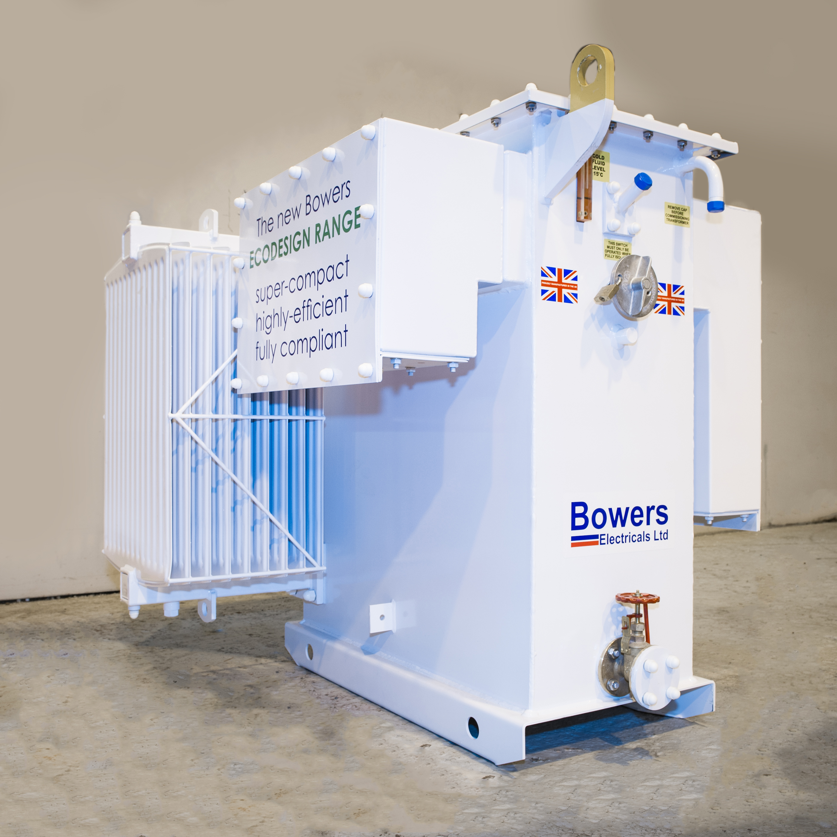 Our Bowers ecodesign transformer in white.
